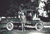Ted's new truck for the farm circa 1920
